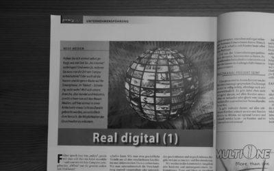Die Welt ist von vorn bis hinten real digital.