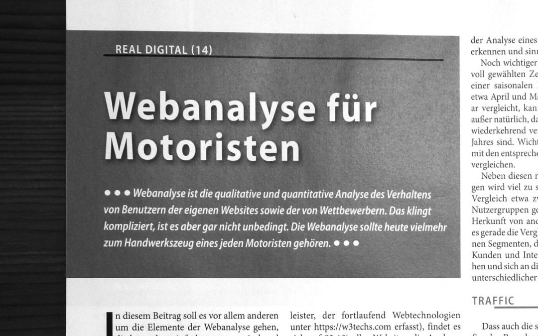 Handwerkszeug: Webanalyse für Motoristen