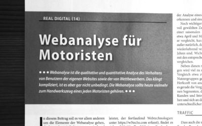 Handwerkszeug: Webanalyse für Motoristen – das kleine 1×1 im Internet!